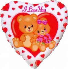 F Сердце Влюблённые медвежата, 18