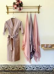 Полотенце 50x100 Hamam Meyzer Tassels розовое