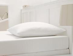 Простыня на резинке 180x200 Blanc des Vosges джерси белая