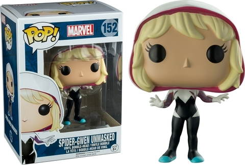 Spider-Gwen Unmasked Funko POP! Marvel Vinyl Figure || Гвен-Паук без маски