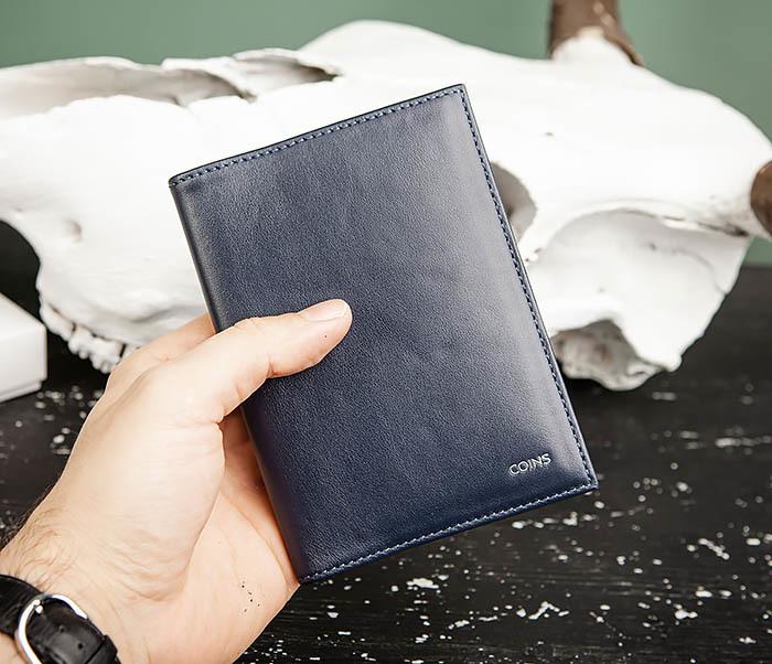 BC217-3 Кожаная обложка для авто документов и карточек «Moriz», синяя фото 08