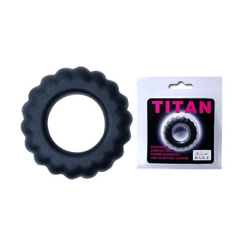 Эрекционное кольцо TITAN с крупными ребрышками фото