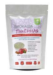 Биокаша Пшённая с пророщенной зеленой гречкой, яблоком, корицей, 220 гр. (Натурпродукт)