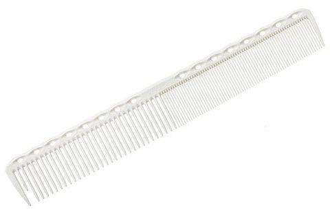 Расческа для стрижки Y.S. Park 336 с рельефным обушком 18,9 см белая