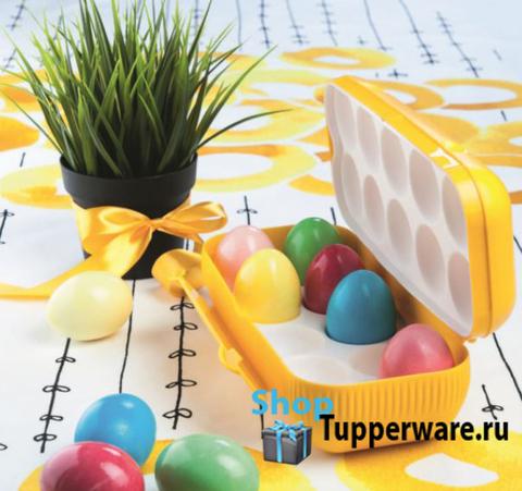 Контейнер для 10 яиц желтый