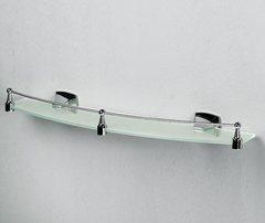 Полка в ванную WasserKRAFT Wern K-2544 стеклянная с бортиком