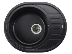 Мойка Kaiser (Кайзер) KGMO-6250-BP Black Pearl для кухни из искусственного камня, круглая (овальная)