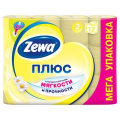 Бумага туалетная Zewa-Plus 2сл желт втор втул 23м 184л 12рул/уп 144089
