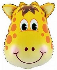 Шар (25''/64 см) Фигура, Голова Жирафа, 1 шт.