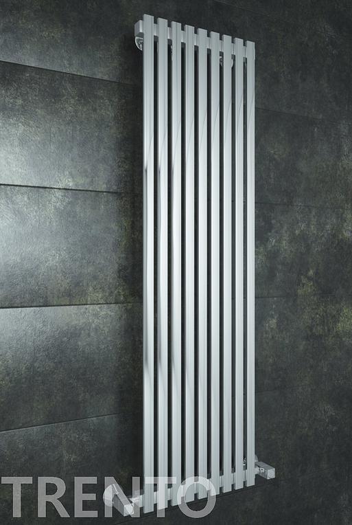 Trento E - электрический дизайн полотенцесушитель с прямоугольными вертикалями.
