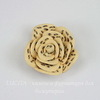 """Кабошон акриловый """"Леопардовая роза"""", цвет - бежевый, 20 мм"""