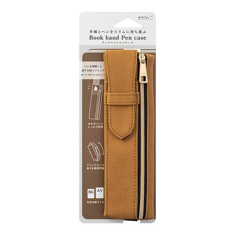Пенал Midori Book Band Pencase (коричневый, для блокнотов B6~A5)