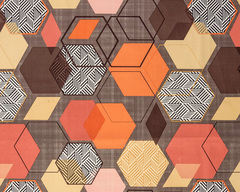 Велюр Geometry brown (Геометри браун)