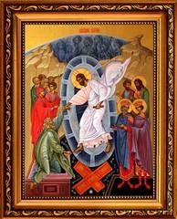 Воскресение Христово. Иона на холсте.