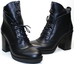 Черные ботинки женские Flamingo