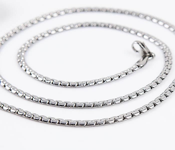 Spikes, Плоская стальная цепочка «Spikes» оригинального плетения (55 см) цепочка с подвеской sogni 925 201102251