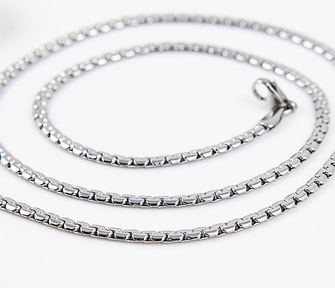 SSNH-0311-03 Плоская стальная цепочка «Spikes» оригинального плетения (55 см)