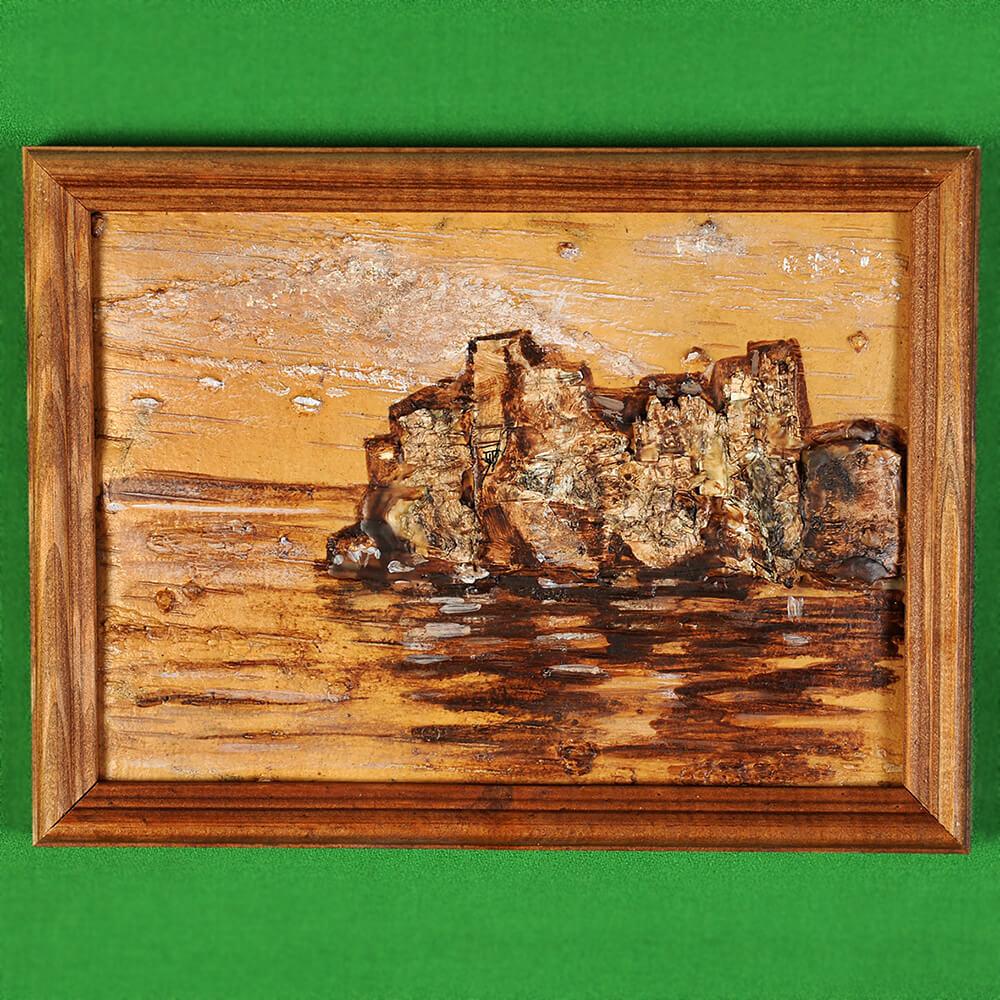 Картина на бересте Байкальский пейзаж 1