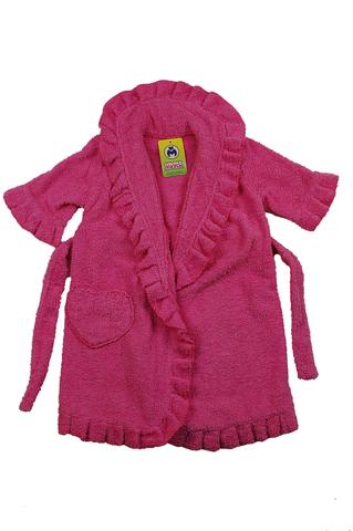Халат детский махровый розовый 5215М