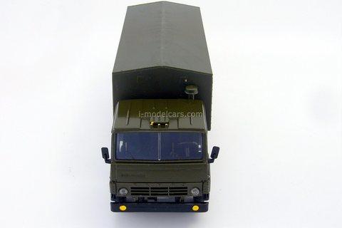KAMAZ-53212 with awning (grille khaki) khaki Elecon 1:43