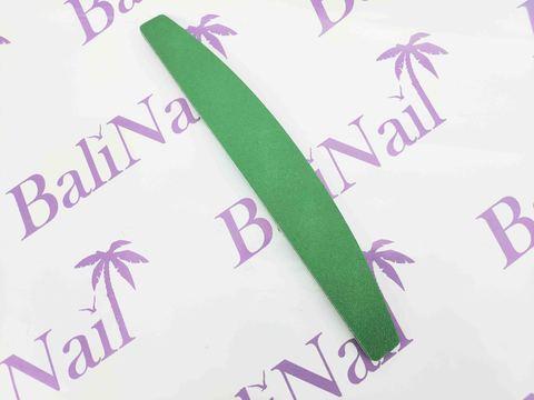 Пилка для ногтей многоразовая (100/180) зеленая, лодочка