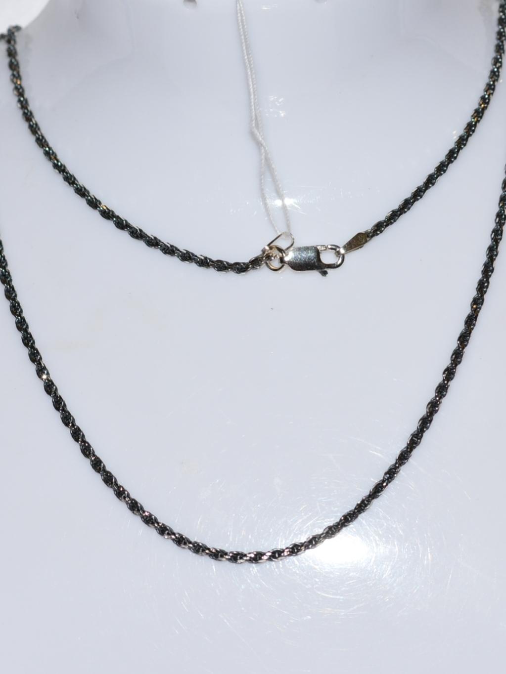 Веревка с алмазной гранью 0,4 (серебряная цепочка)