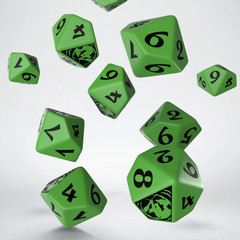 Legend of the Five Rings Mantis Clan 10D10 Dice (10)