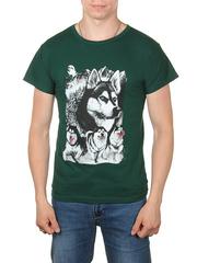 11112-5 футболка мужская, темно-зеленый