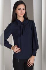 Маркиза. Красивая блуза с бантом. Синий