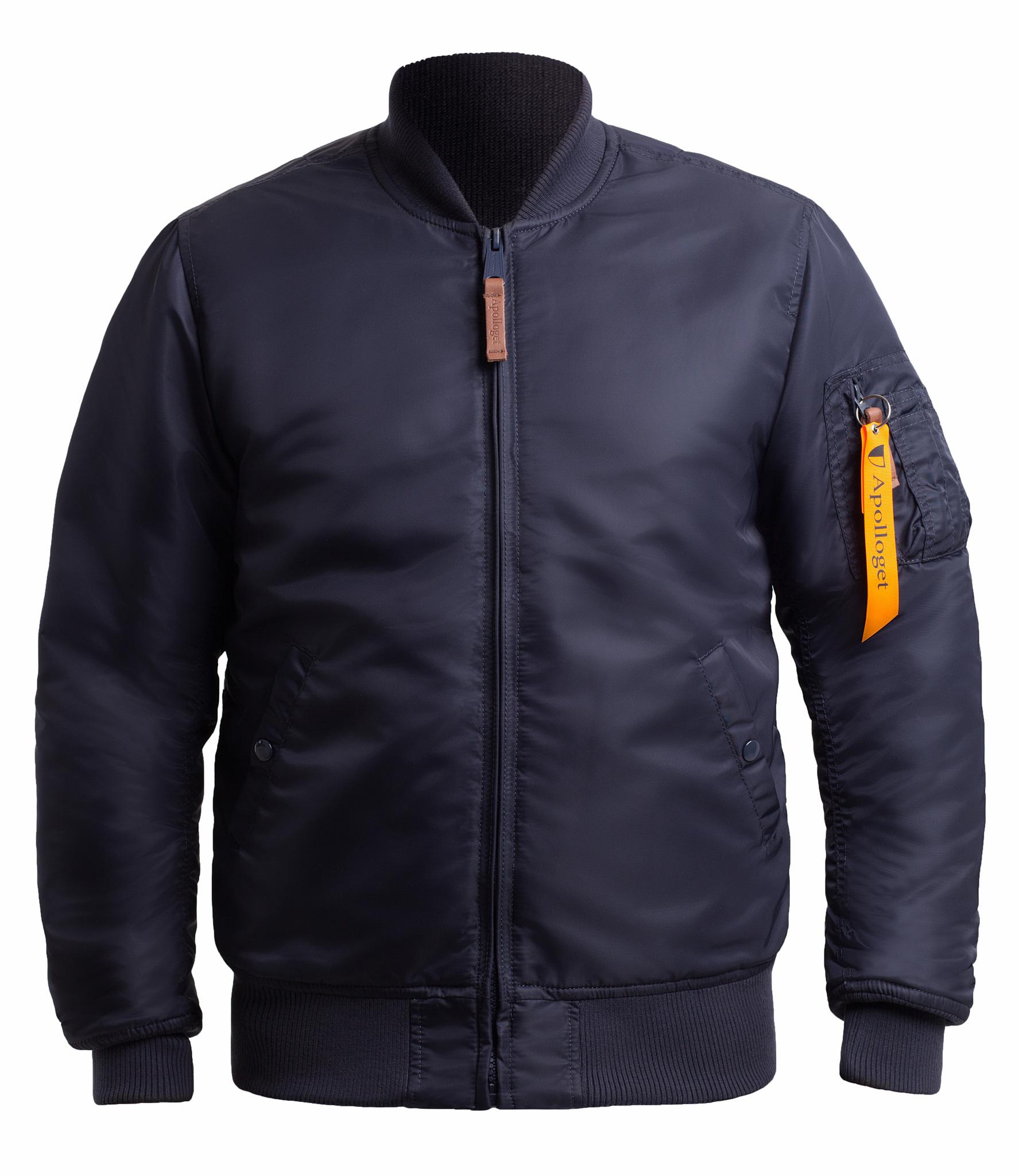 Куртка Бомбер - B-17 Apolloget (т.синяя - ink/orange)