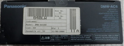 Panasonic DMW-AC6 оригинал