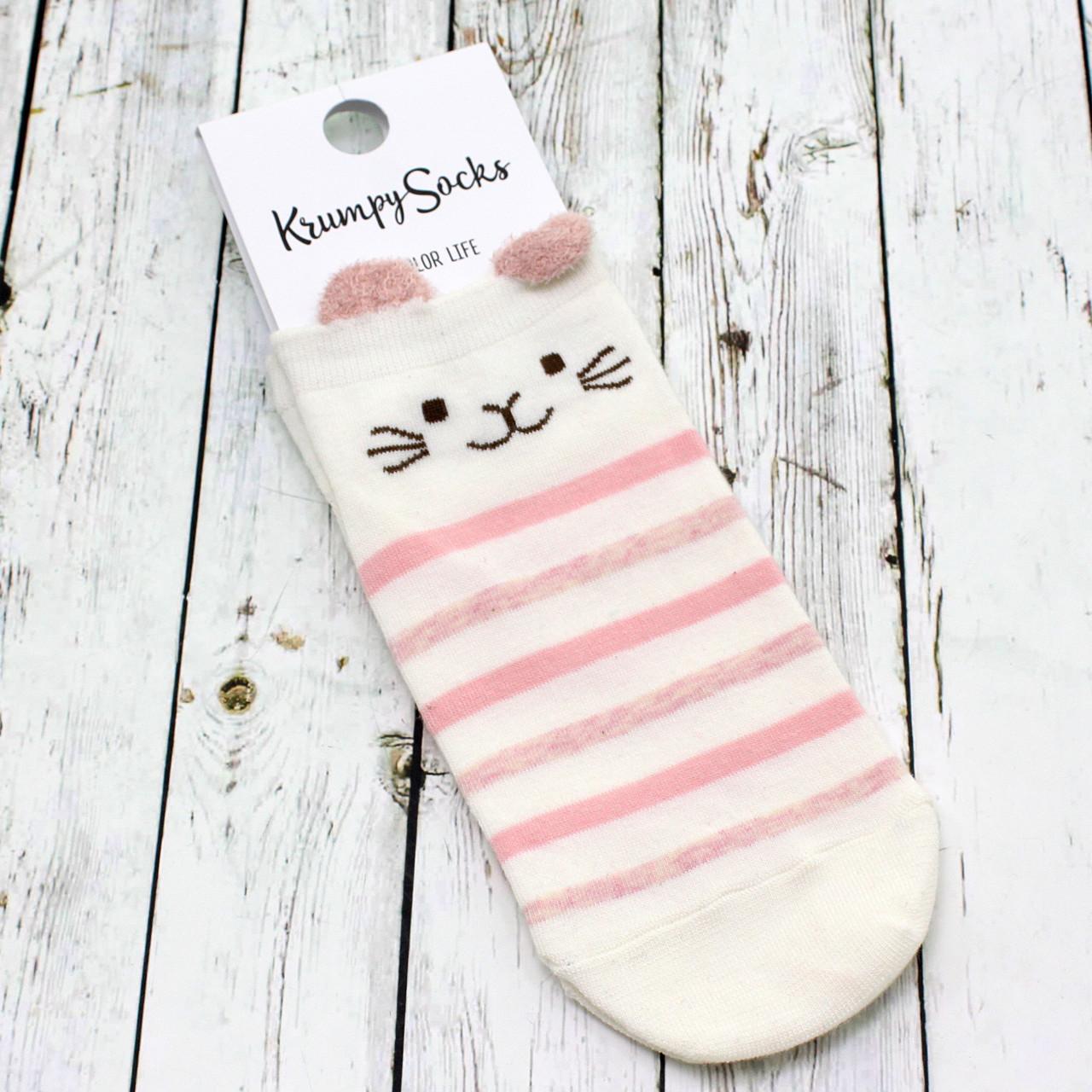 Носки Котик в Розовую Полоску