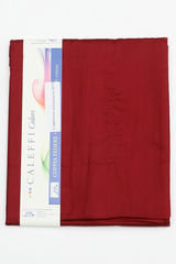 Простыня на резинке 200x200 Сaleffi Raso Tinta Unito с бордюром сатин бордовая
