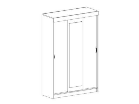 спальня БАСЯ шкаф купе (1300х2020х516)