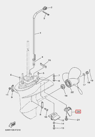 Анод для лодочного мотора F20 Sea-PRO (24-20)
