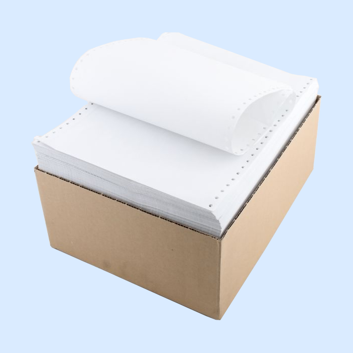 Бумага ЛПУ 240 (240х304,8х2000л)  в стопе, с  перф.