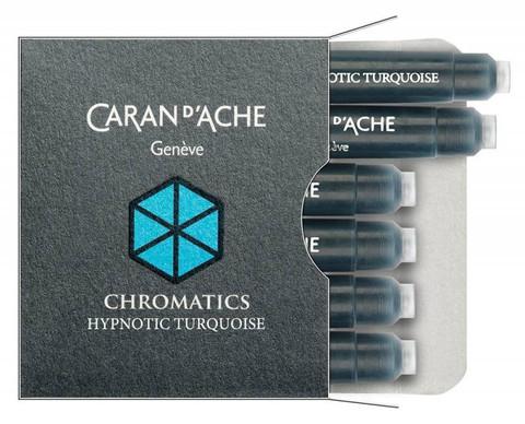 Carandache Чернила (картридж), бирюзовый, 6 шт в упаковке