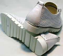 Модные женские туфли без каблука летние Mi Lord 2007 White-Pearl.