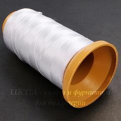 Нить нейлоновая для бисероплетения, 0,3 мм, цвет - белый, примерно 400 м