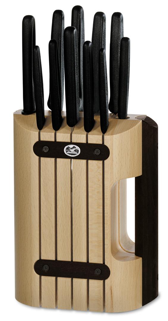 Набор Victorinox кухонный, 11 предметов, в подставке, черный