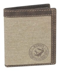 Портмоне WENGER Canvas Hunter, цвет коричневый, воловья кожа/ткань, 10,5×3×12,5 см