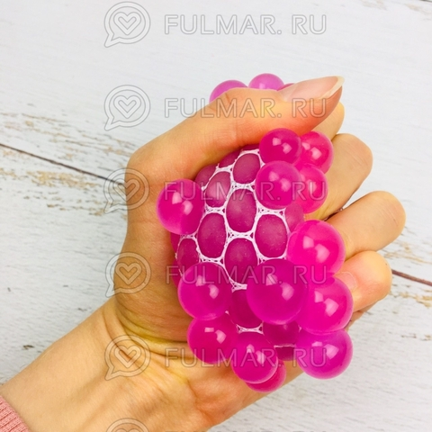 Игрушка-антистресс Виноград Mesh Savish Ball Розовый