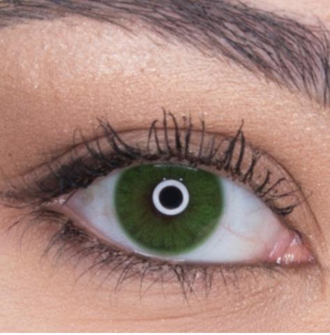 Зеленые линзы для карих и светлых глаз 3 мес Rainbow verde / Раинбов изумруд