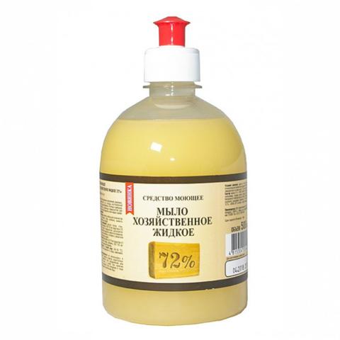 Рябина Средство моющее Мыло жидкое хозяйственное 72% 500мл.