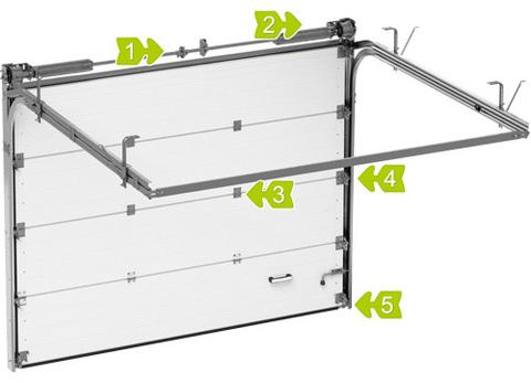 Секционные ворота Alutech ШхВ 3000х2835 мм