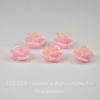 """Кабошон акриловый """"Розочка"""", цвет - розовый, 10 мм, 5 штук"""