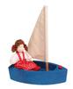 Кораблик с парусом, большой. Синий.