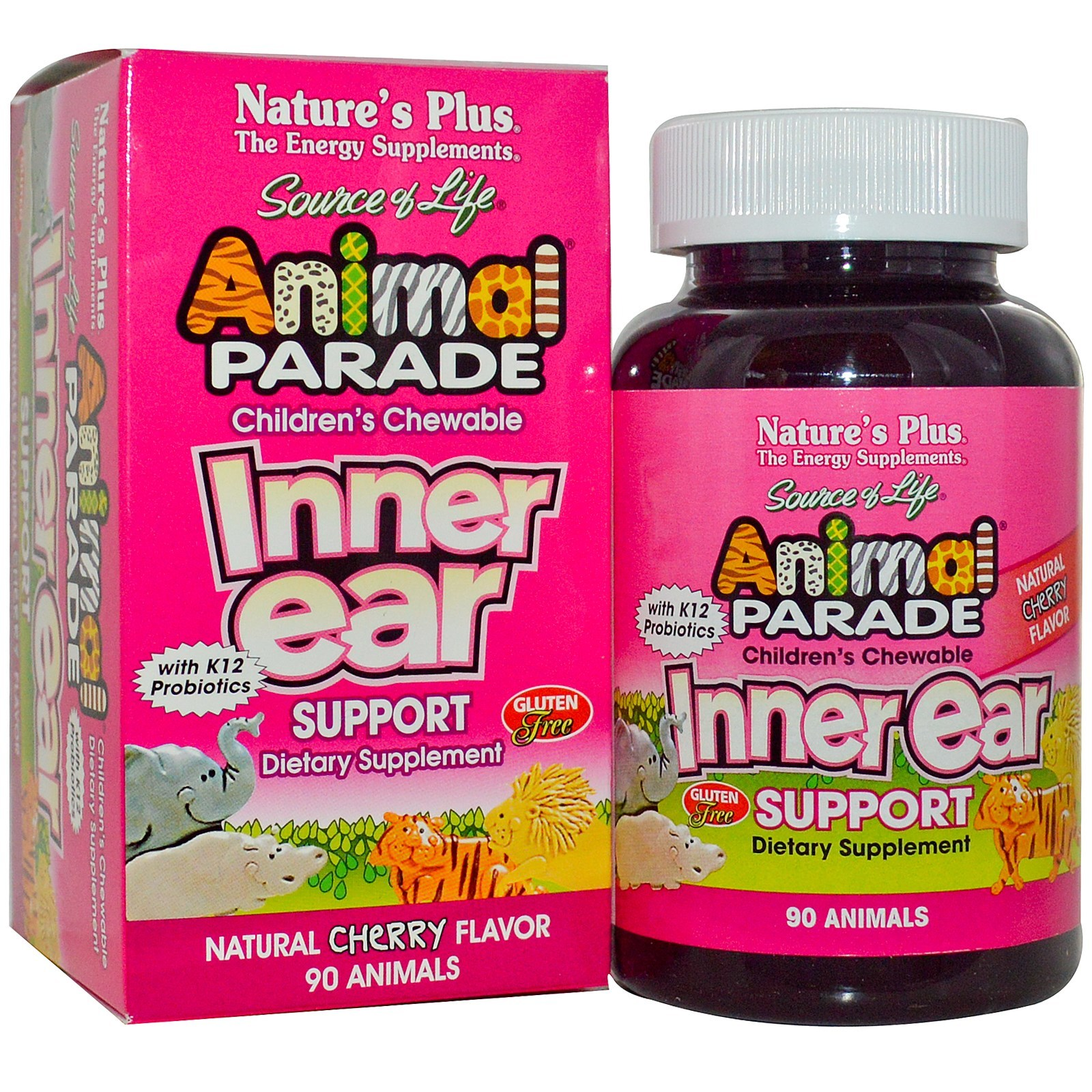 Natures Plus Source Of Life Animal Parade Inner Ear Support Tabs 90 Calcium
