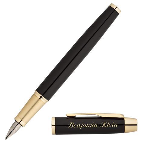 Перьевая ручка Parker IM Metal, F221, цвет: Black GT, перо: M