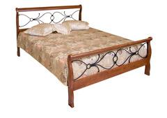Кровать 425-N 200x160 (MK-2120-RO) Темная вишня